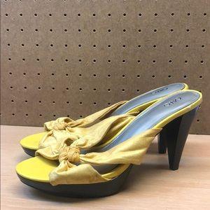 Cato women's Fabric Slip on Sandal Heels sz 9